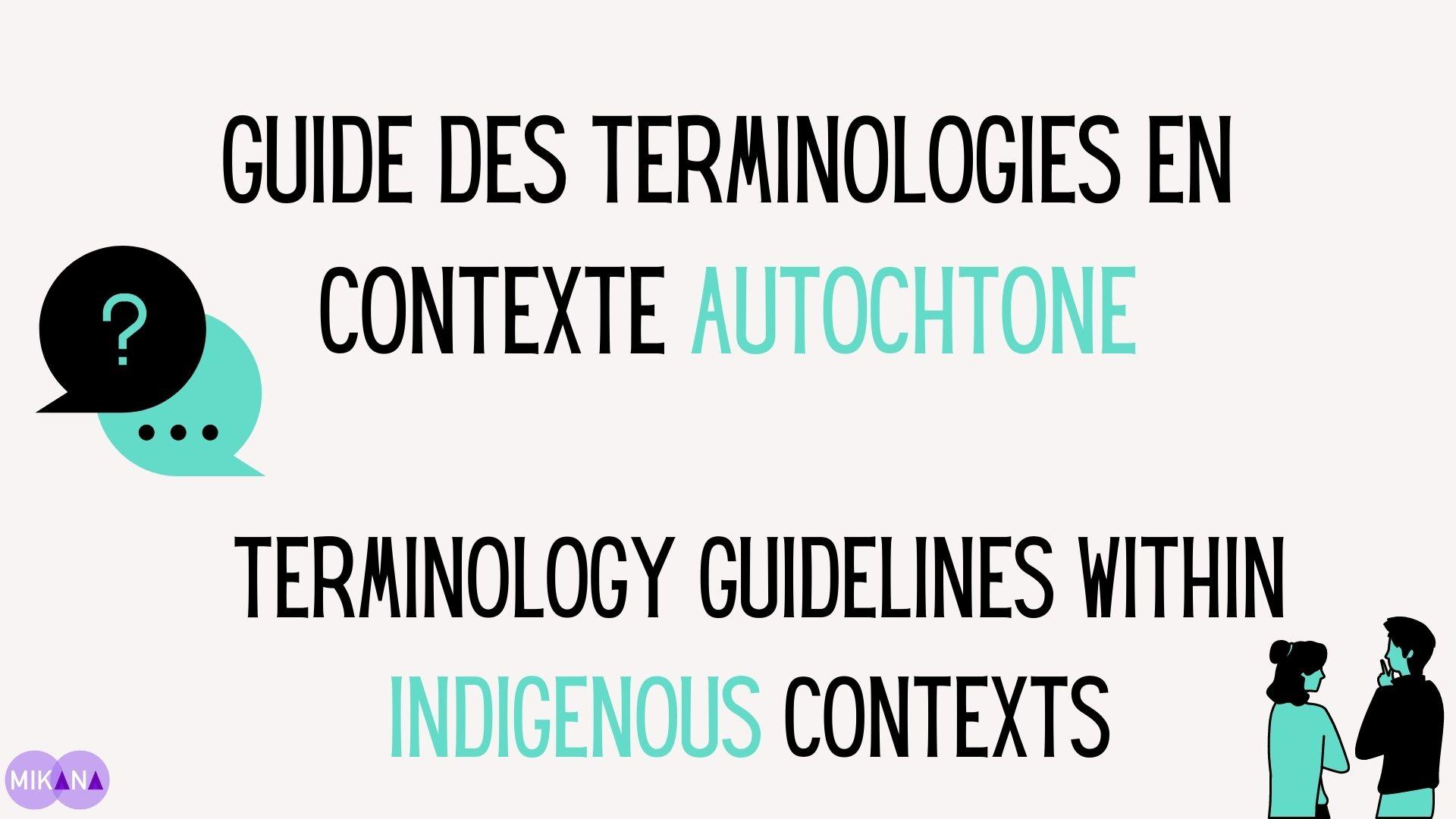 Guide des terminologies en contexte Autochtone