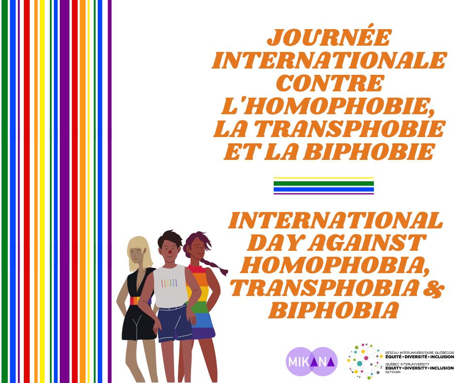 Journée internationale contre l'homophobie, la transphobie et la biphobie